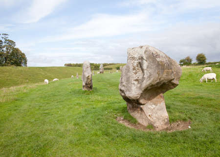 wiltshire: Stones at avebury in wiltshire Stock Photo