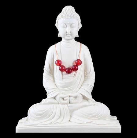 thoughtless: Buddha isolated on black background