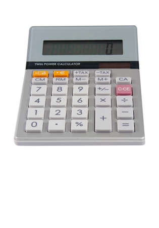 Photo of a desktop calculator isolated on white Stock Photo - 21772300