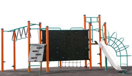 climbing frame: Childrens struttura rampicante isolato su sfondo bianco