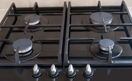 Cooker hob close up photo