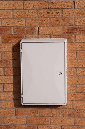 meter box: Gas o caja de medidor de electricidad Foto de archivo
