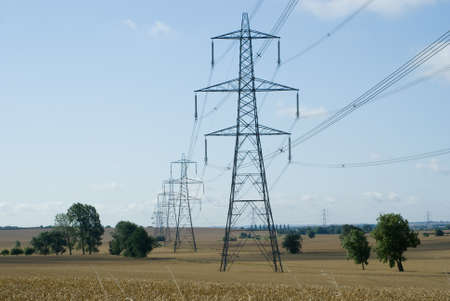 Electric Pylons in the countryside photo