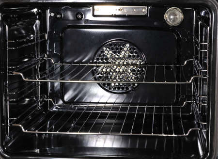 oven and range: Inside of a modern oven
