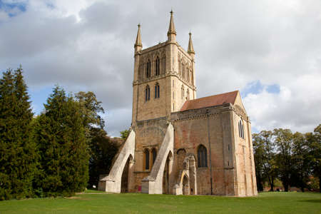 Pershore Abbey in summer time photo