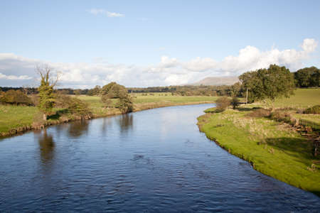 River Ribble in Lancashire, England, UK photo