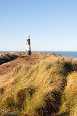 spurn: Spurn Point lighthouse in spring Stock Photo