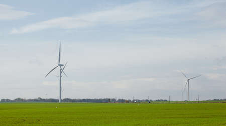 eyesore: Wind turbines on farmland