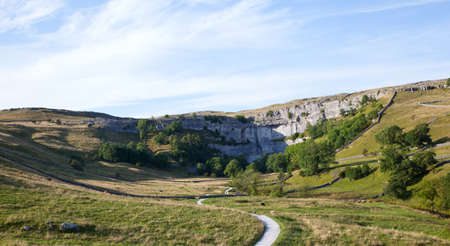 yorkshire dales: Malham Cove in the Yorkshire Dales, England