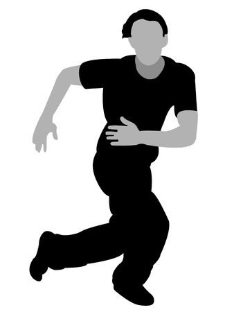 dancing man on isolated background photo