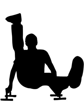 excercise: man doing excercise for fitness on isolated white background