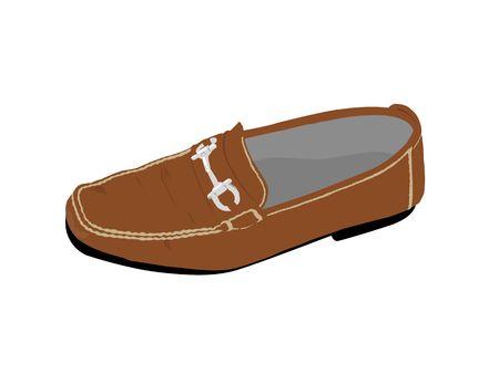 leather shoe on isolated background Stock Photo - 3524014
