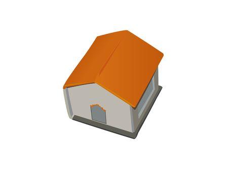 chit: hut shape chit holder on white background