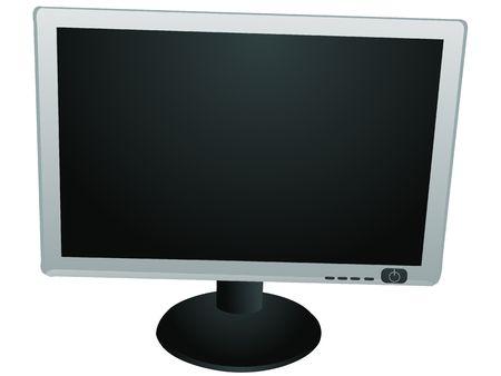 flat monitor on isolated white background photo
