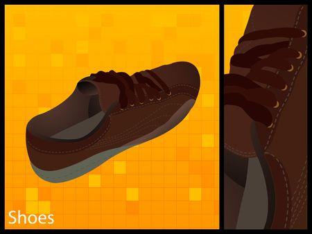 single shoe on white background Stock Photo - 3540398