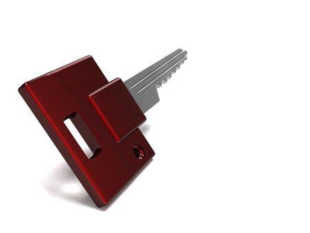 little key on white background Stock Photo - 3553886