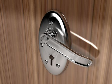 door locker on isolated background