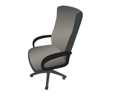 backrest: rotating arm chair against white background Stock Photo