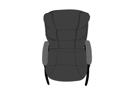 backrest: leather chair on white background Stock Photo