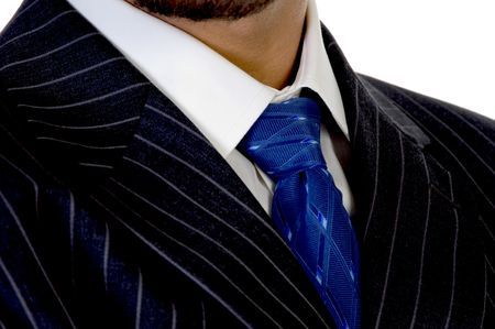 close up of executive's tie  with white background Stock Photo - 3608767