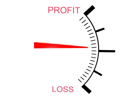 isolated  three dimensional  loss and profit gauge photo