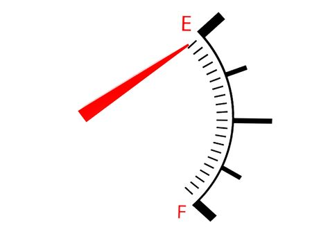 fuel gauge:  isolated on white three dimensional  loss and profit gauge