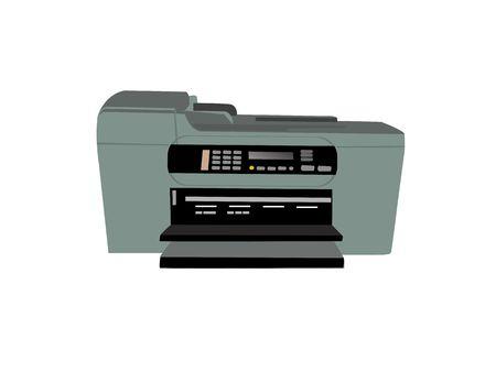fotocopiadora: fax fotocopiadora aisladas sobre fondo