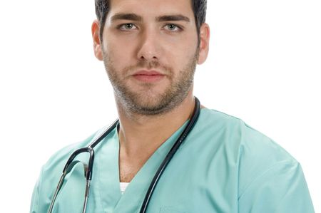 young handsome doctor on an isolated background Stock Photo - 3708635
