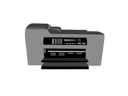 fax machine on isolated background photo