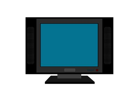 telecast: flat screen television against white background