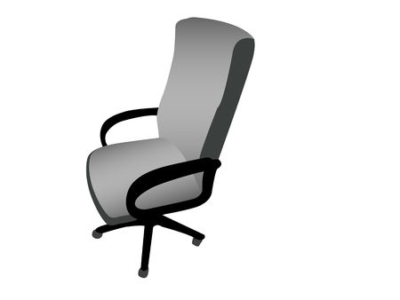 rotating arm chair against white background photo