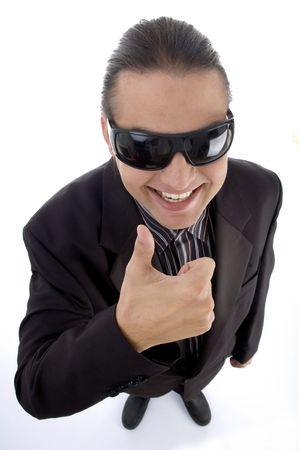 usługodawcy: usługodawcy noszenia okularów na pojedyncze białym tle