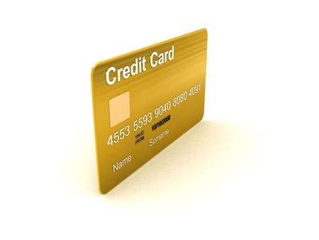 side view of  three dimensional credit card photo