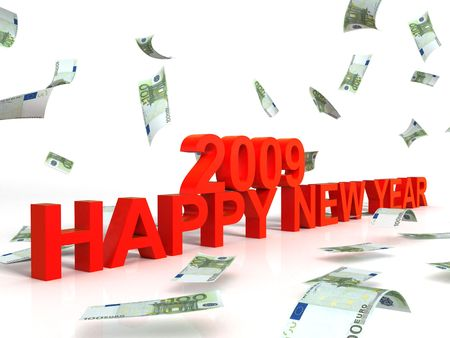 three wishes: three dimensional view of new year wishes for two thousand nine