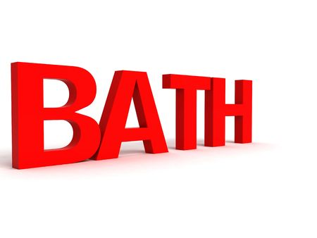 three dimensional view of bath alphabet