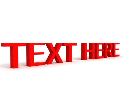 three dimensional view of text here word Stock Photo - 3842941