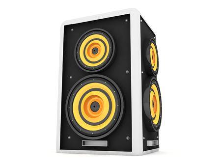 decibel: three dimensional view of loud speaker