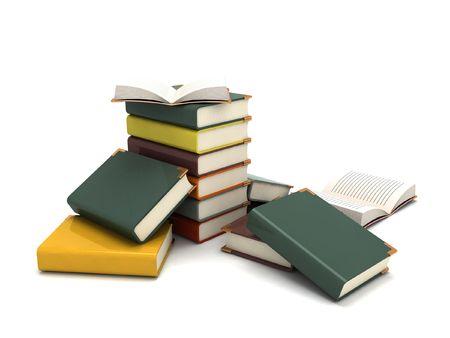 isolated three dimensional pileup books