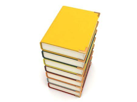 pileup: three dimensional pileup books with white background