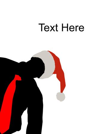 peeping: peeping male with christmas hat and tie