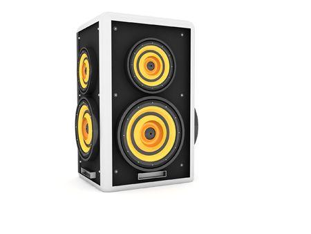 decibel: three dimensional front view of speaker