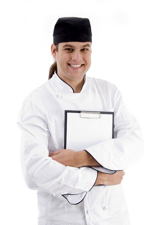 portrait of young chef on an isolated white background Stock Photo - 3950553
