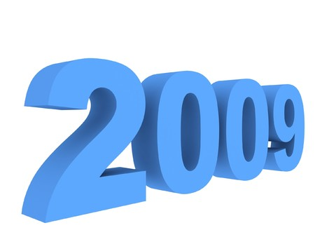 3D new year 2009 Stock Photo - 3959421
