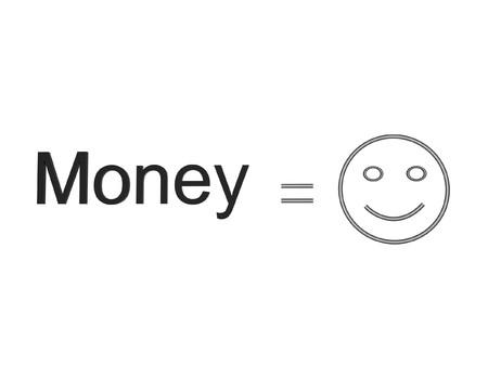 equals: 3D money equals happiness