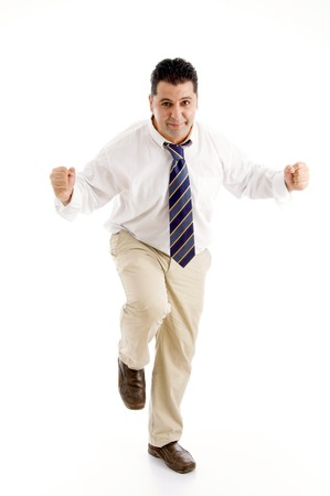 successful businessman posing against white background Stock Photo - 3972009