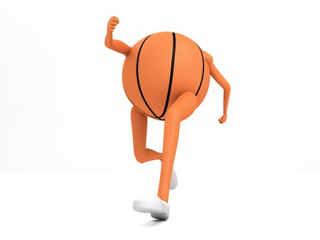 3D running basket ball with hands and legs  photo