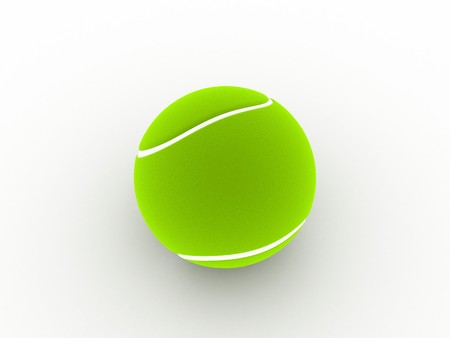 computergraphics: 3D view of tennis ball