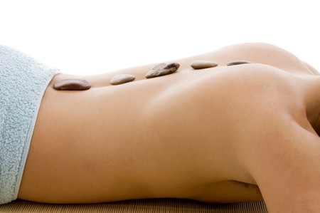 side view of  man lying down for spa treatment Stock Photo - 3977530