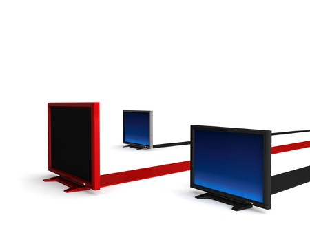 3D isolated lcd televisions photo