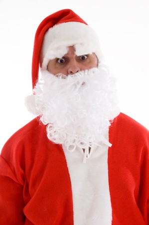 santaclause hat: santa with his eyes popped out on an isolated white background